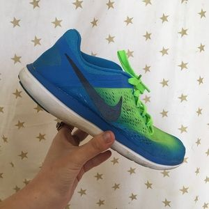 Nike Lime Green and Blue sneakers